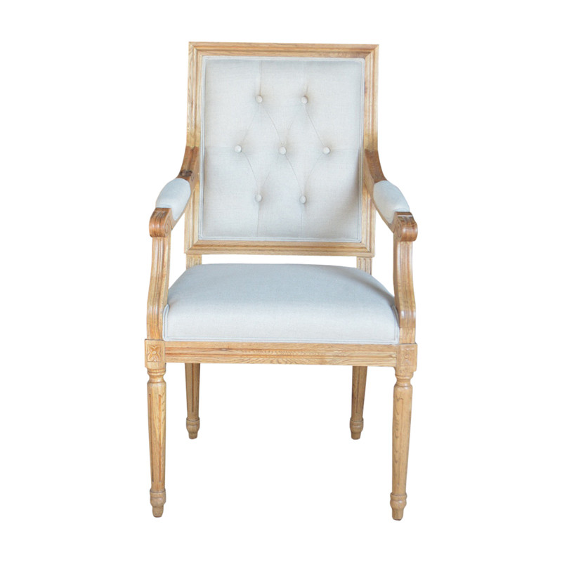 P2199-2T Elegant Classical Italian Design Wooden Dining Chair with Armrests