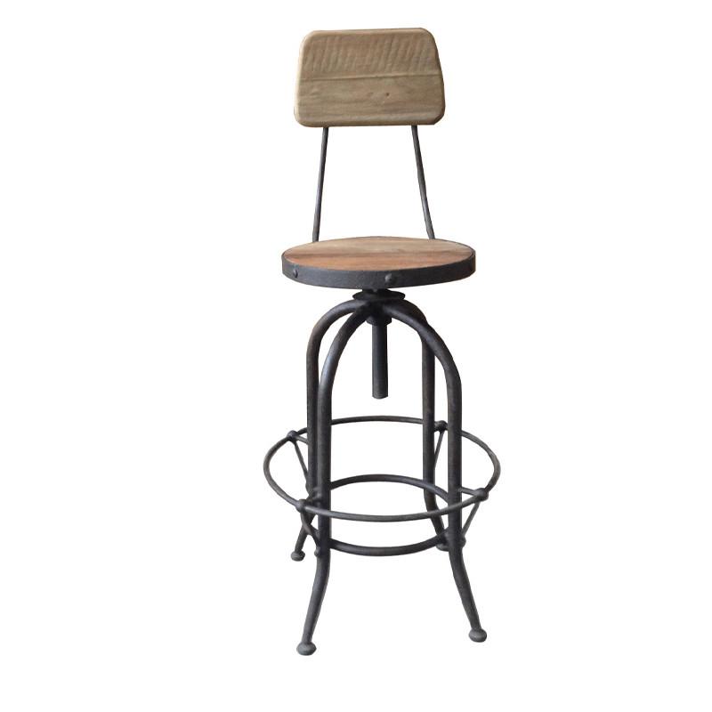 Wooden High Back Bar Chair With Armrest HL424