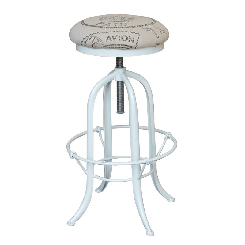 HL425 French Style Vintage Wooden Metal Bar Stool