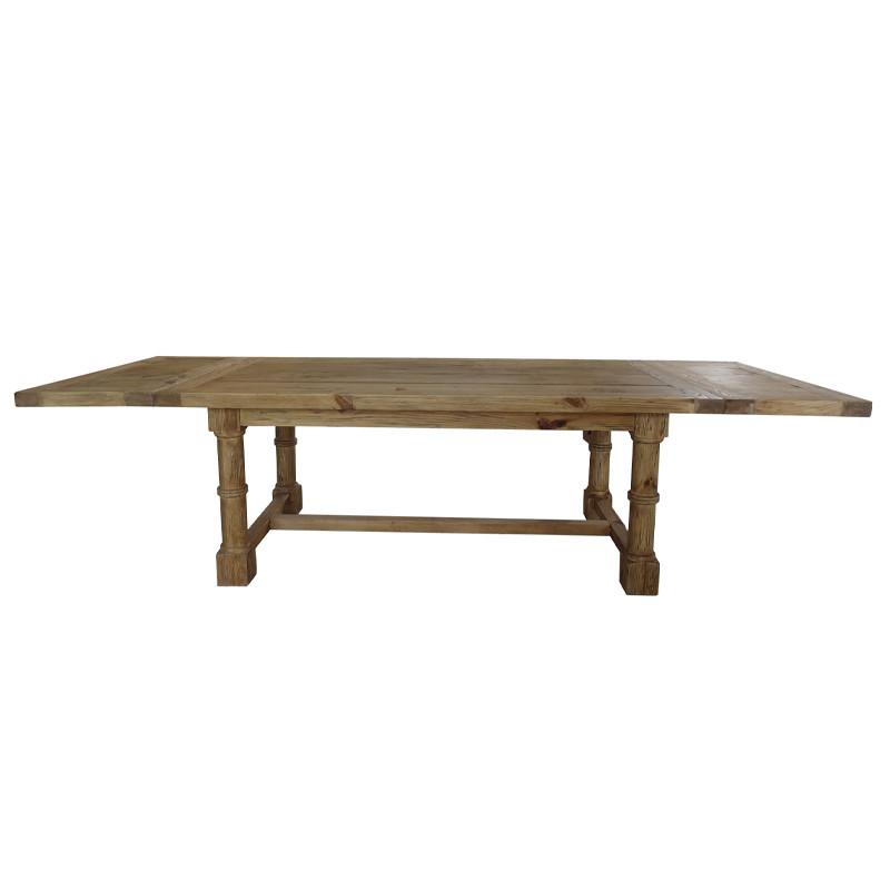 Salvaged Wood Gun Barrel Dining Table D1622-300