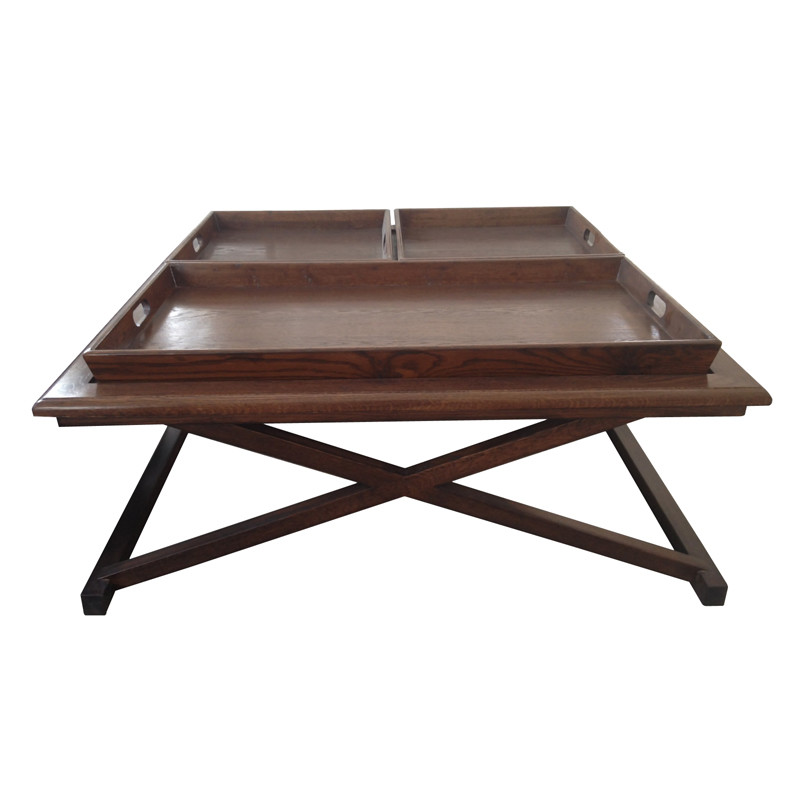 HL108 Vintage Wooden Coffee Table With Drawers