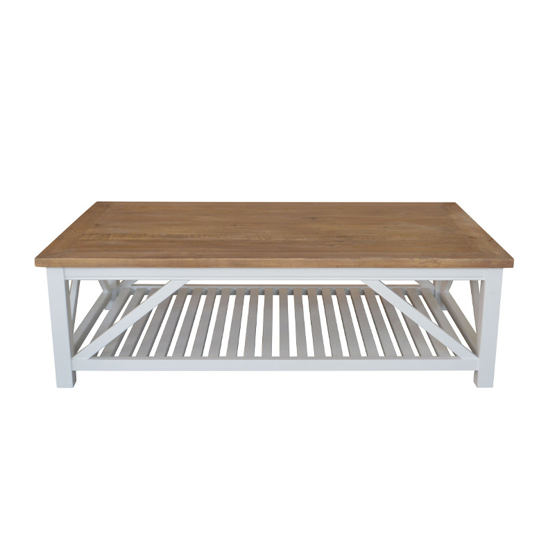 French Country-style Recycled Wooden Coffee Table HL307-7