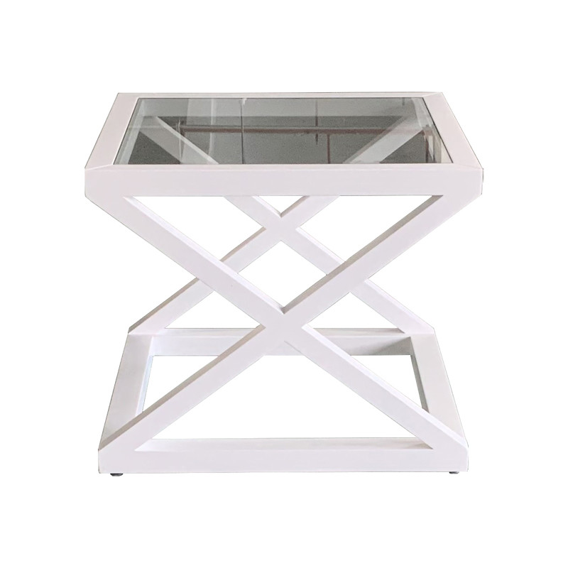 French Stylish X Legs Oak Side Table HL360