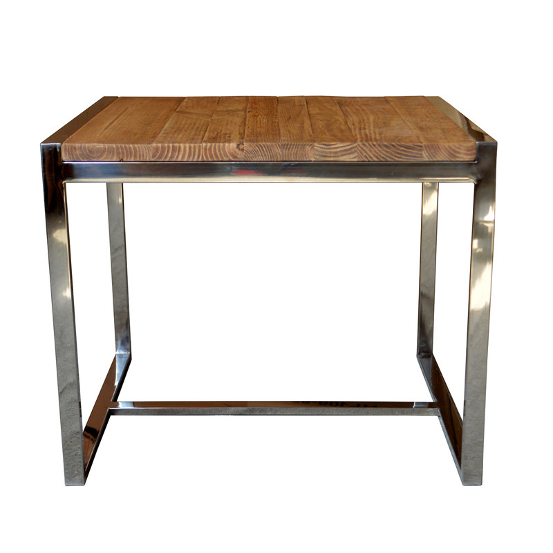 industrial metal furniture Stainless Side Table HL164