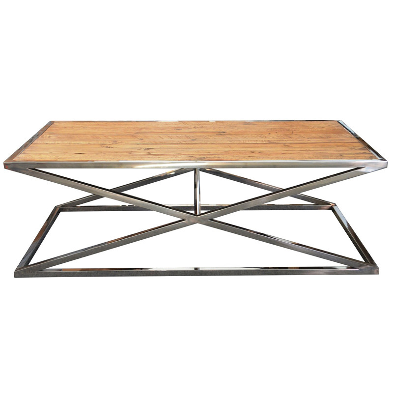 Vintage Stainless Steel Coffee Table HL168