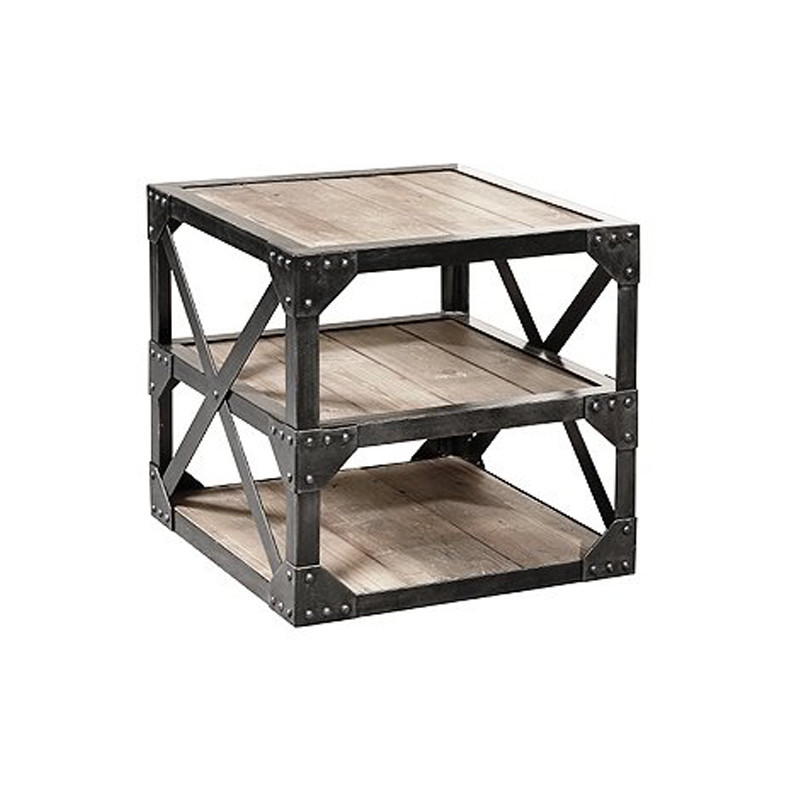 Retro French Industrial Furniture Side Table HL406