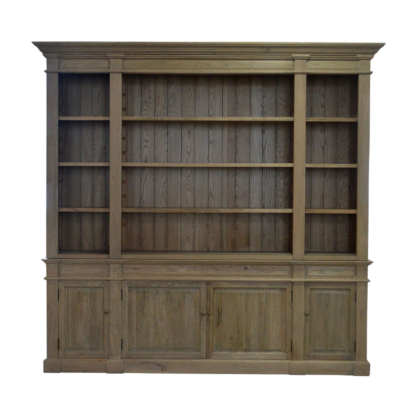 Antique French Country-style Solid Wood Bookcase