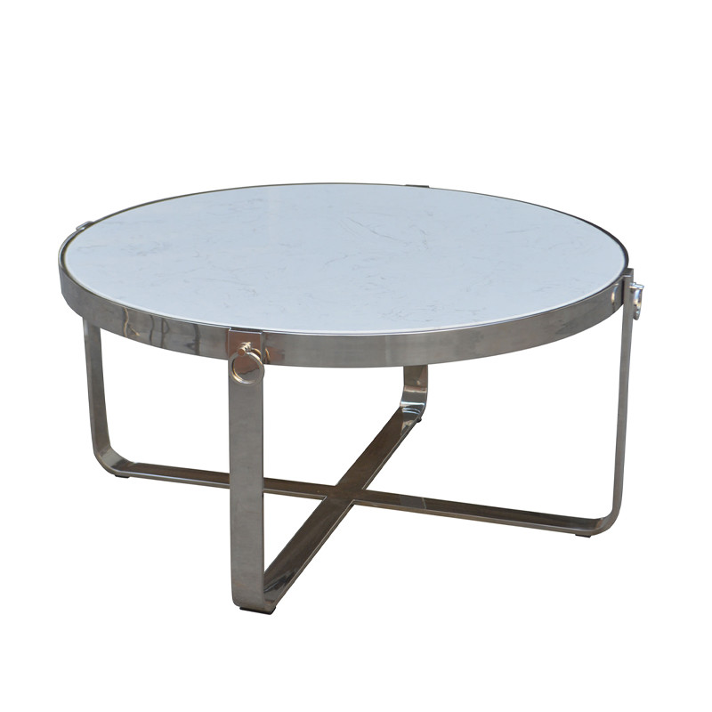HL166 Wooden Outdoor Round Dining Table Detachable Metal Base Beach Bar Set Stool
