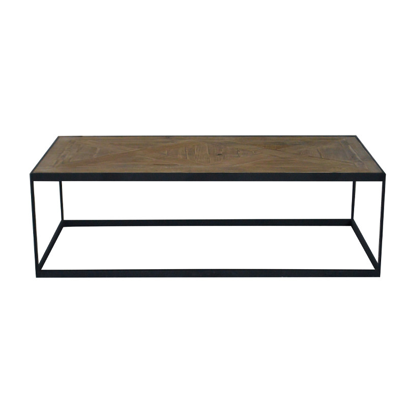 Square Wooden Table Industrial Look Furniture HL471