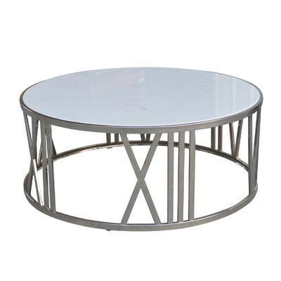 French-style Coffee Table with White Marble Top HL490-1