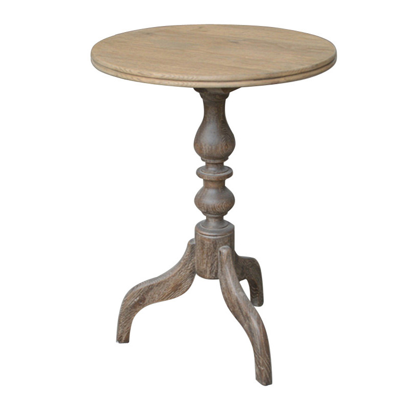French stylish round wooden side table HL085